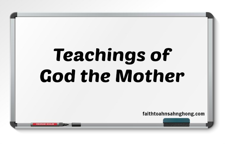 The way to clean a stained heart was the Teachings of Mother